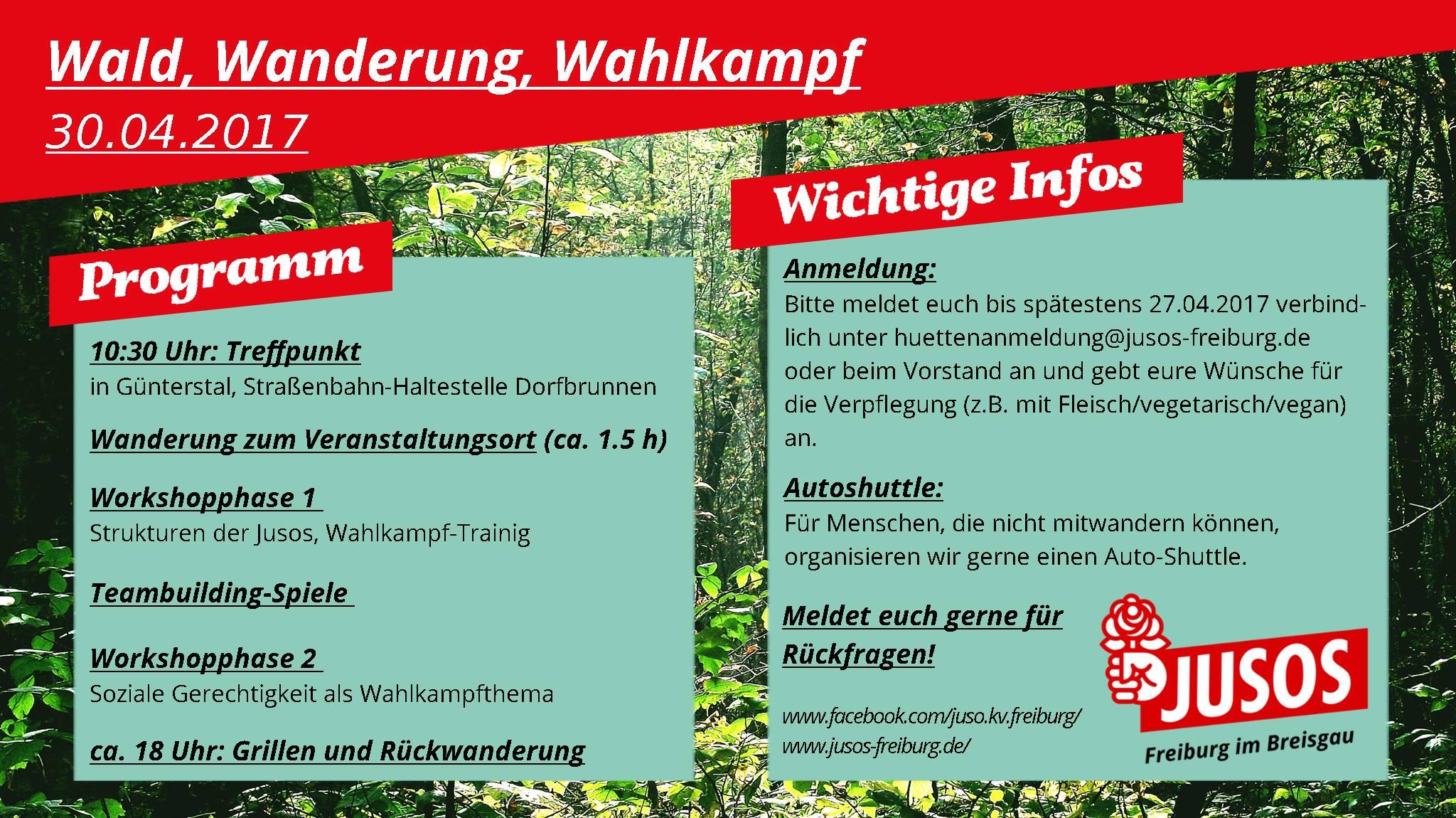 Wanderung, Wald, Wahlkampf – Fit für den Wahlkampf